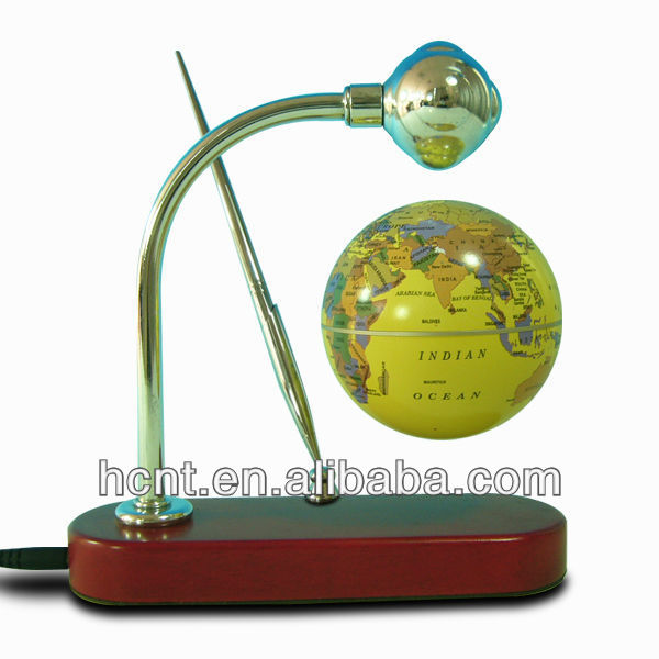 "best sales:3"" floating globe with LED light for globe telecom"
