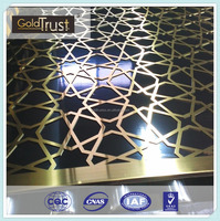 China stainless steel supplier color laser cutting stainless steel divider/partition for interior decoration