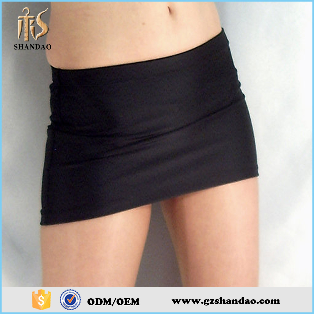 2016 guangzhou shandao summer wholesale black spandex sexy women micro mini skirt