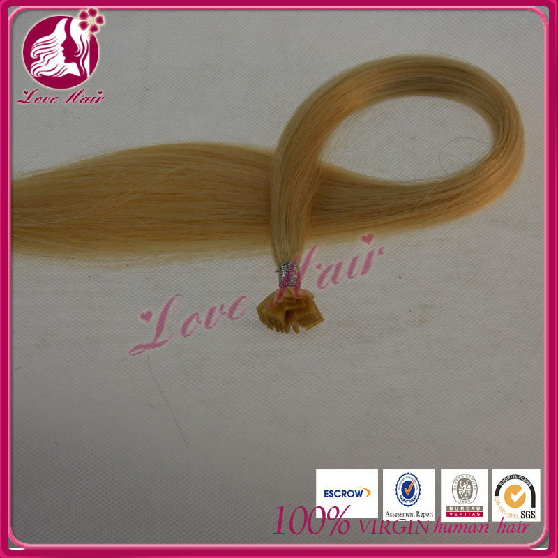 The softest fashion style flat tip hair manufacturers in china lady rainbow color #613 hair straight hair come from china