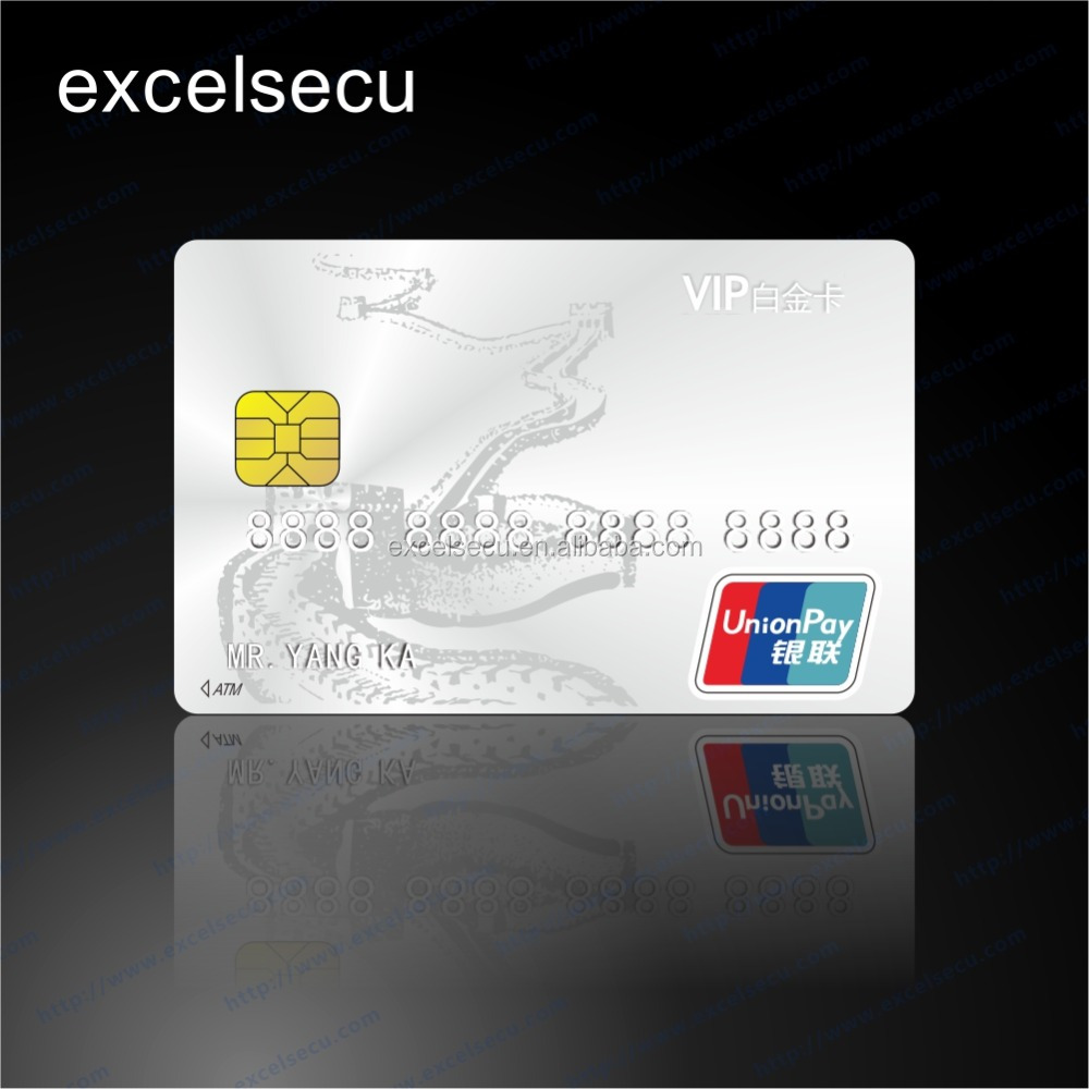 Promotional Quality plastic ATM credit bank card
