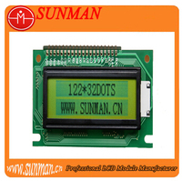 lcd display 122X32 graphic lcd screen for Instrument and meter