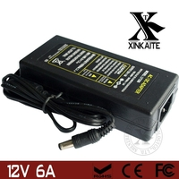 12V 6A AC DC LED Power Supply Charger Transformer Adapter 110V 220V to 12V For RGB LED Strip 5050 3528