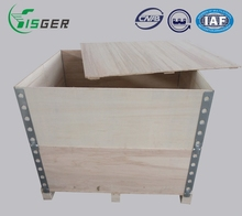 Wholesale Recyclable Collapsible Wooden Packaging Box with Steel Edge