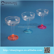 FDA SGS transparent disposable plastic whisky tasting wine short glass