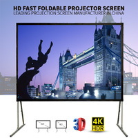 Rental equipment screens quick fold screen with drapes easy fold projection screen