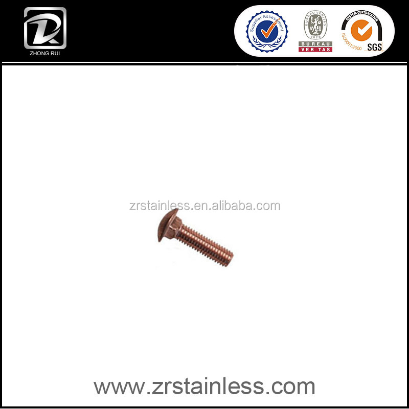 DIN603 Copper M20 Carriage Bolt