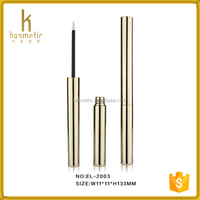 wholesale cylinderical shiny empty cosmetic packaging for eyeliner pencil tube