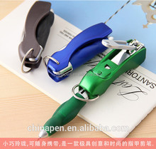 promotion customize logo nail dipper multifunction led light ball pen