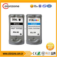 Compatible ink cartridge PG 30 CL31for Canon PIXMA iP1800/2600/MP140/210/470/MX300/310 inkjet printer