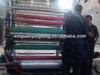 pof three layer shrink and stretch film blowing machine