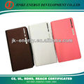 Hot Sale Leather Business Portable charger for iPhone / iPad /Smartphones 12000mah