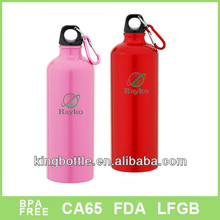 Best quality with carabiner aluminium drinking bottle small top