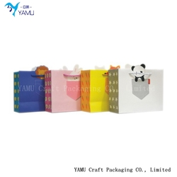 3D CARTOON PAPER BAG WITH CUTE ANIMAL pattern