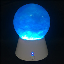 2018 New Design Novelty Led Color Ball Bluetooth Speaker with Glitter Water Globe