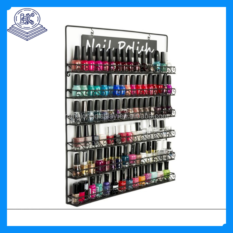 black nail polish wall display rack metal material
