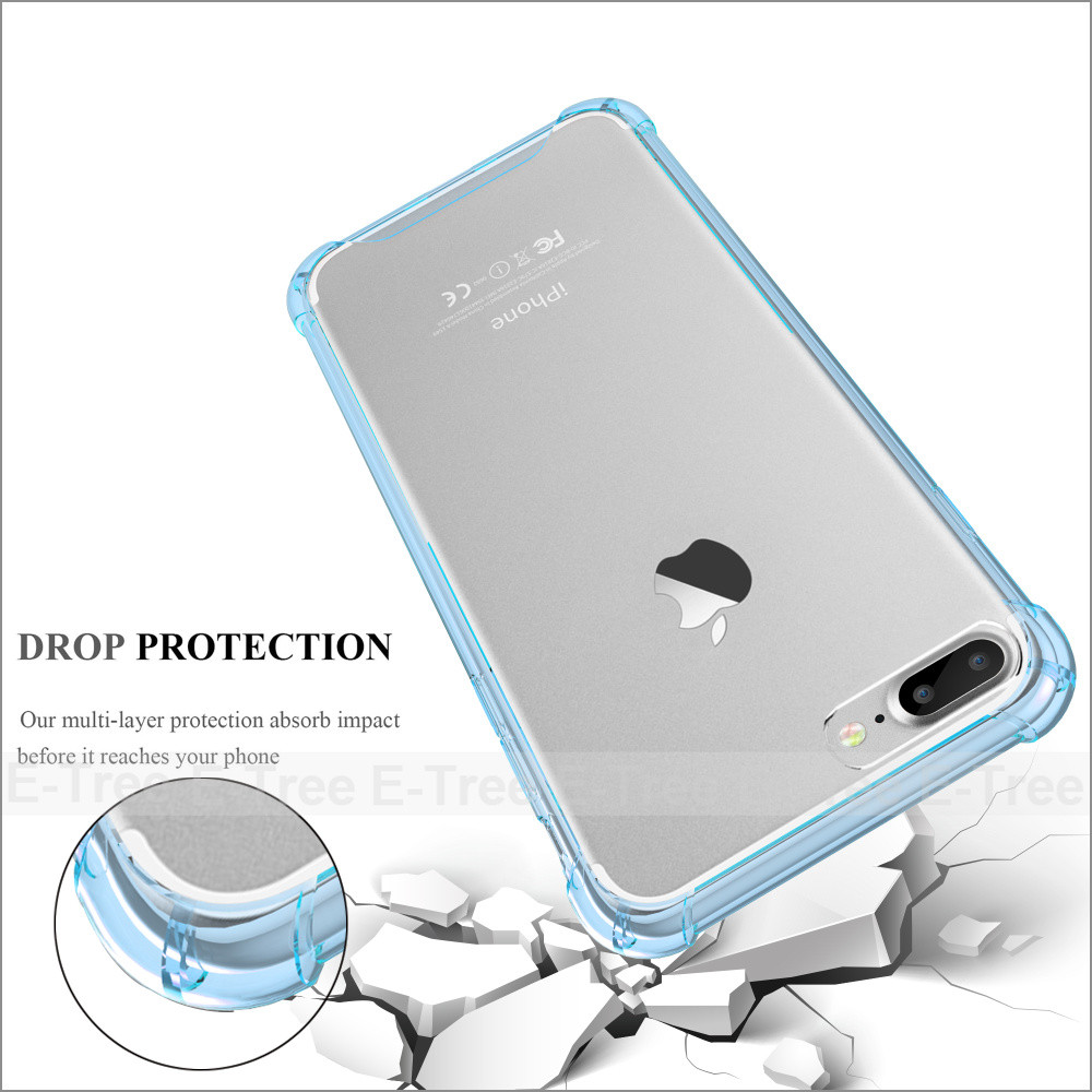 shockproof tpu pc Mobile phone back case for iphone 7