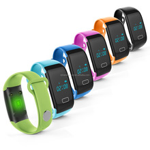 (sl)JW018 Smart Wristbands Heart Rate Touch Bracelet Bluetooth Passometer Sports Fitness Tracker for iPhone Andriod Phone Wrist