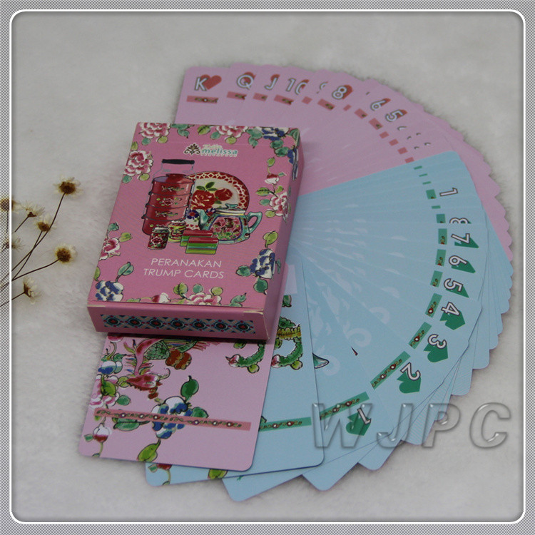100% Plastic PVC Playing Cards Custom Printing Waterproof Plastic Poker With Plastic Box or Tuck Box