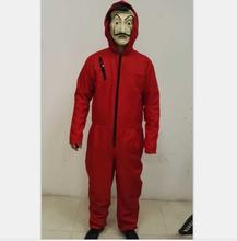 Coldker Hot La Casa De Papel Custome en Salvador Dali Masker Cosplay Kostuum