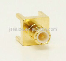 MCX male/plug RF connector for PCB mounting