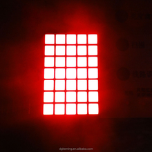 super red p4.75 square led matrix dot display 5x7 dot matrix
