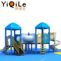 Ingenious design playground equipment outdoor for cool kids games large plastic slide for sale