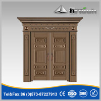 Bronze Color Stylish Luxury Iron Steel Copper Color Door Design