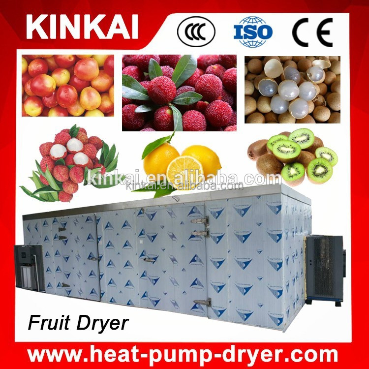 Heat pump KINKAI Brand vegetable and fruit drying machine / tunnel dryer / vegetable tunnel dryer