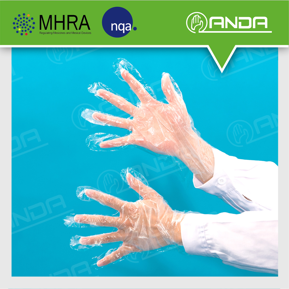 AD008 Exporting disposable ldpe vinyl glove medical grade for hand