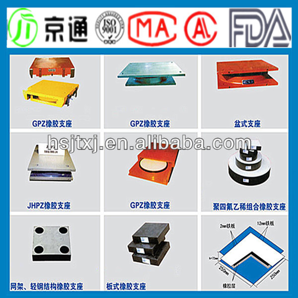 Direct Manufacture All kinds General Plate Bridge Rubber Bearing Pad