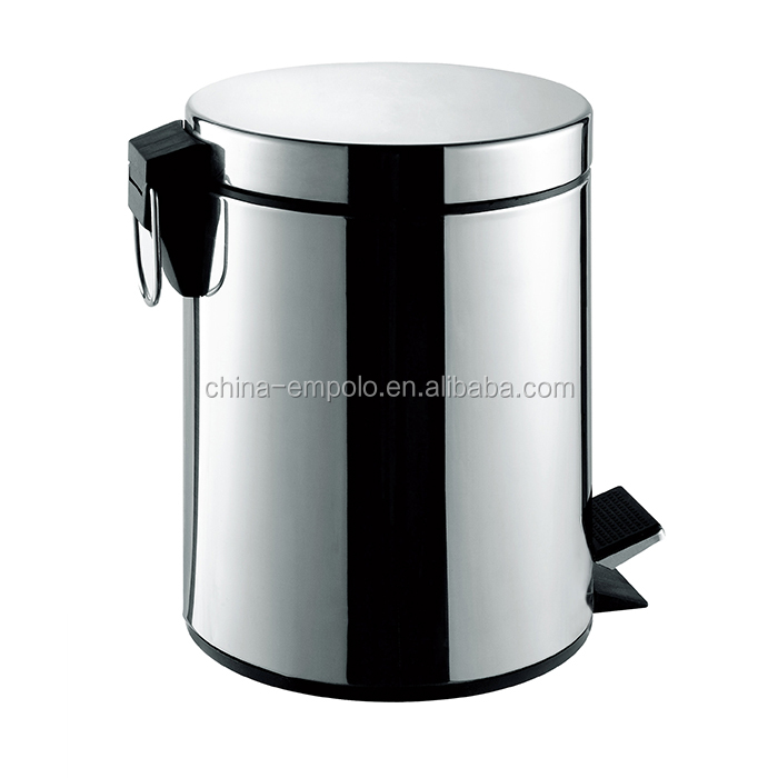 Stainless Steel Trash Cans Outdoor Garbage Bins 7008