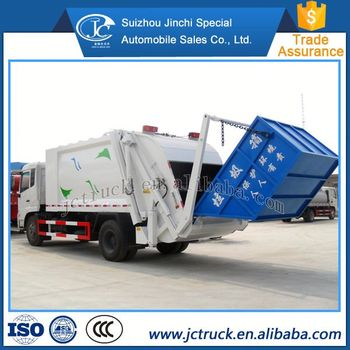 Good price Dongfeng 8 cubic garbage truck dimensions on sale