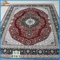 Red Color 8x10 handmade silk oriental carpet online