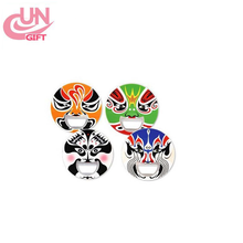 Chinese Opera Mask Featured Refrigerator Metal Bottle Opener Promotion Wine Gift Souvenir Wholesale