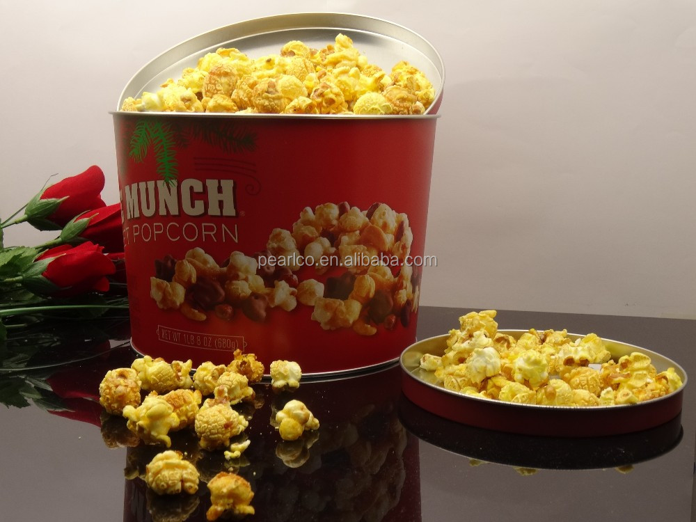 CMYK Printing DIY design Use for candy or biscuit or popcorn Metal popcorn tin box