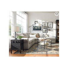 Home <strong>furniture</strong> living room <strong>furniture</strong> sets roll arm upholstered 3-piece bumper sectional sofa set