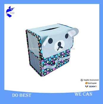Non-woen Multifunctional Lovely Folding Tissue Box with 2 Drawers