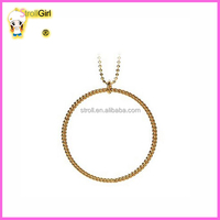 Silver jewelry 925 sterling 22mm circle necklace twisted 18k gold rope chain necklace in silver 925