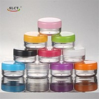 PS cosmetic cream gel round 10ml clear plastic jar