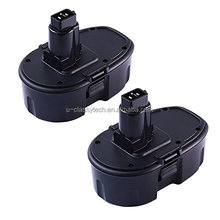 2 Pack 18V 3.0Ah Ni-Mh Replacement Cordless Power Tool Battery for Dewalt