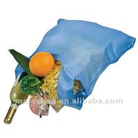nylon folding shopper in pouch with clip