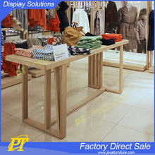Retail Wood Garment Display Table For Clothing Store