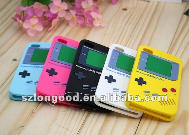 Game Boy Video Game Display Soft Silicone Case for iPhone 4 4S
