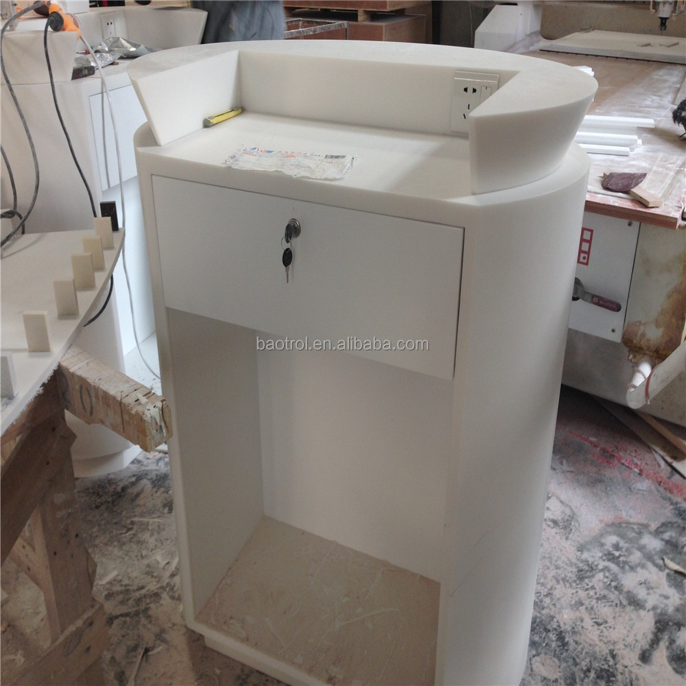 Solid surface reception desk,nail salon small desk designs for one ...