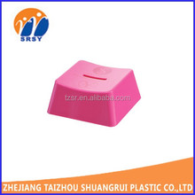 children color customized plastic saving box/coin safe bank/piggy bank money