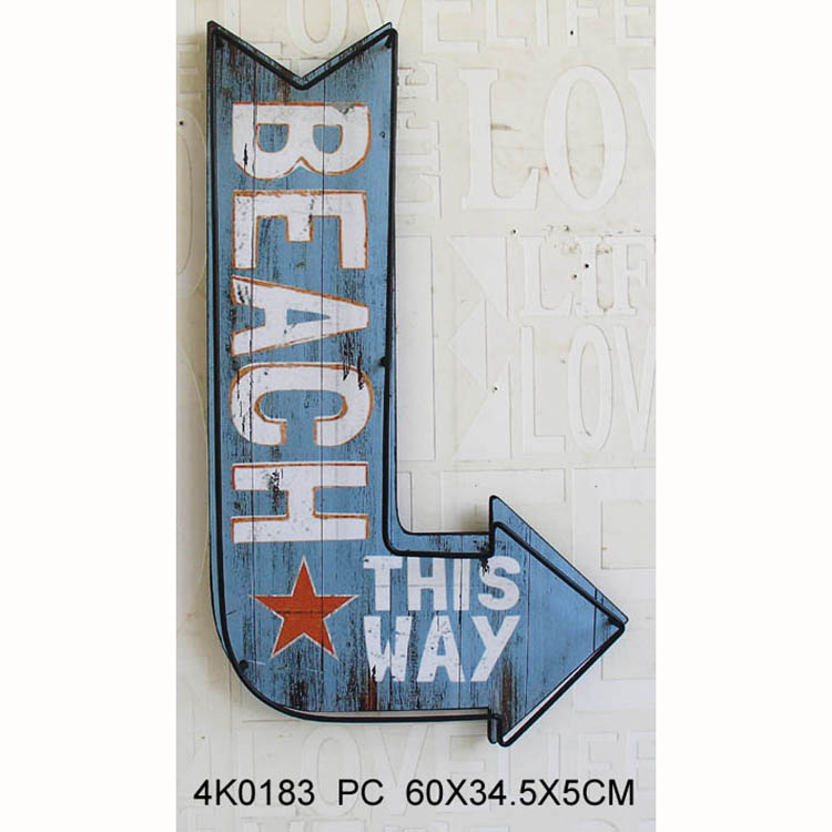 THIS WAY wall signs decorative wholesale wooden signs