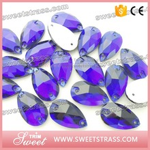 Volume supply excellent quality sew on oval resin rhinestone cabochon