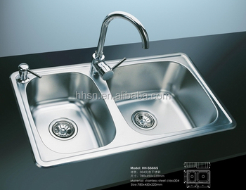 Double bowl 304 stainless steel kitchen sinks