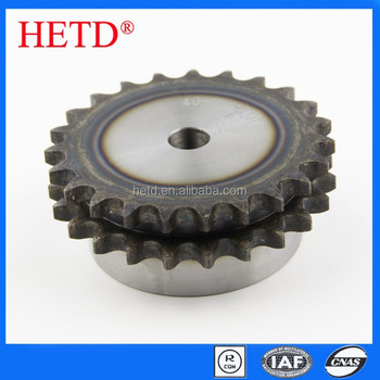 HETD 40 Duplex Roller chain Sprocket 12.07-pitch 2-row 23-teeth transmission parts 40-2-23T